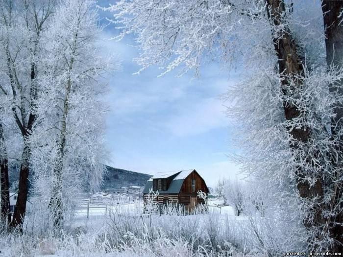 Картинки зима в деревне - Зима картинки - Фото мир природы