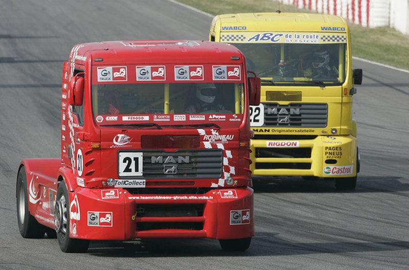 Кольцевой гоночный грузовик