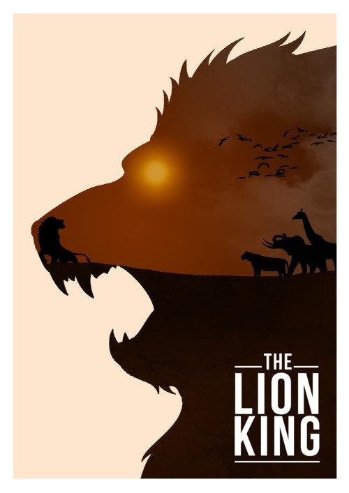 Минималистичный постер Король лев