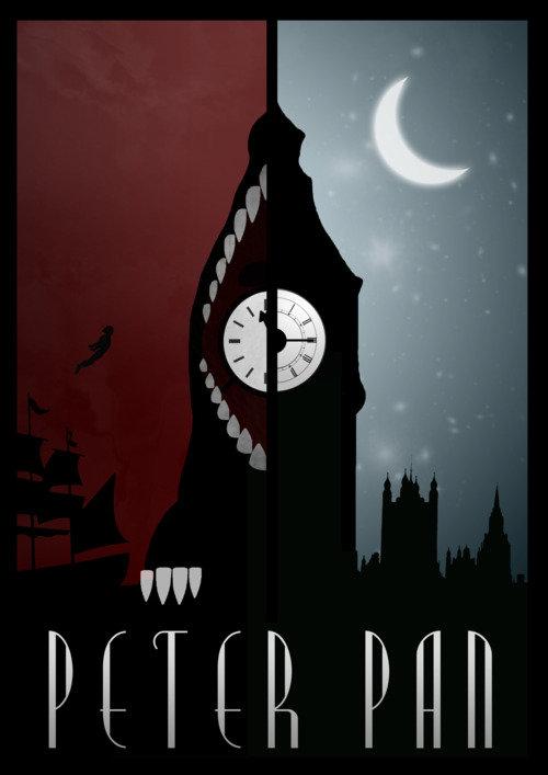 Минималистичный постер Питер Пэн