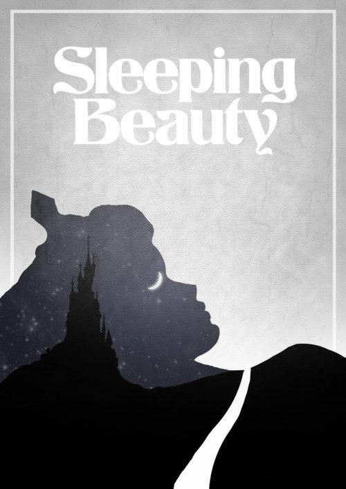 Минималистичный постер Спящая красавица