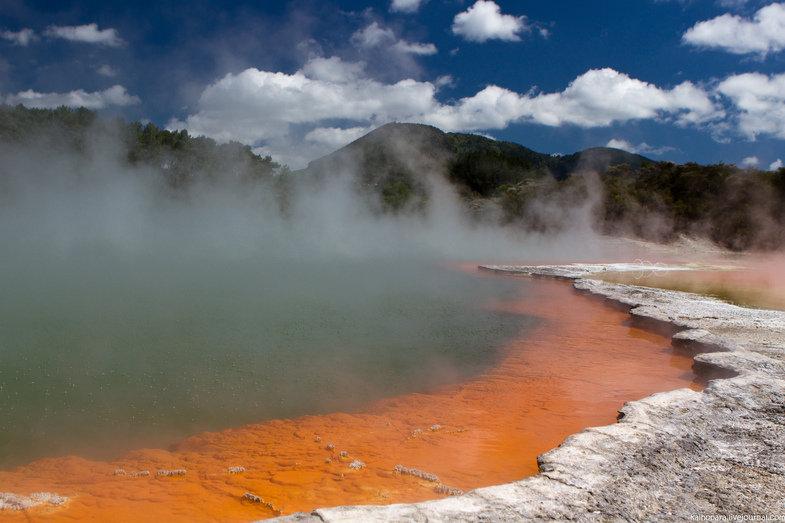 Новозеландские долины гейзеров