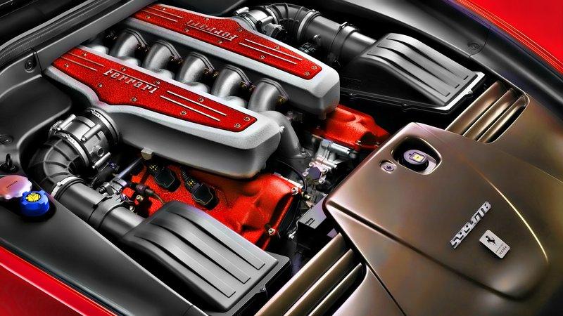 Обои двигатель, феррари, ferrari, движок Под капотом Феррари