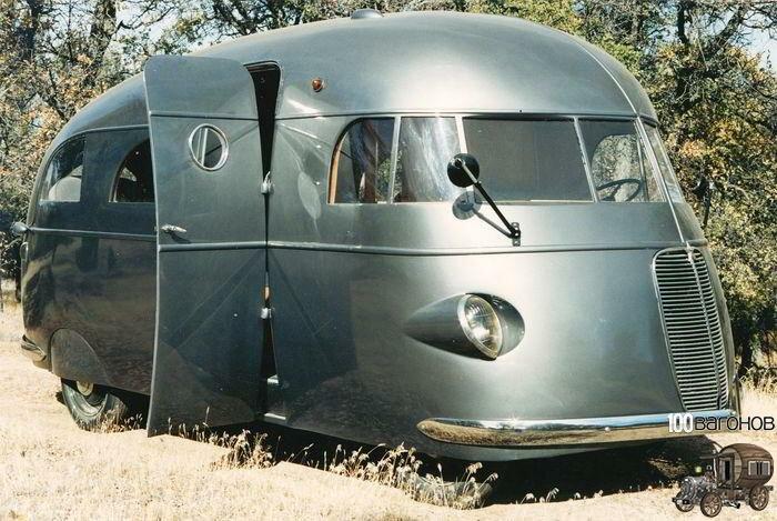 Первый автомобиль для отдыха с душем - Hunt House Car 1937 года выпуска