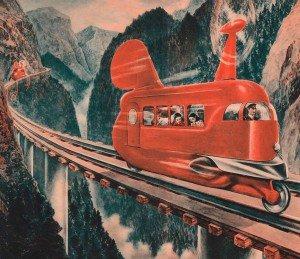 Поезд с винтовым двигателем