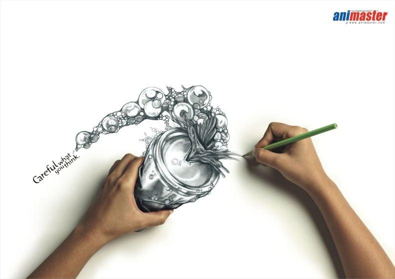 Симпатичные рекламные рисунки (5 фото)