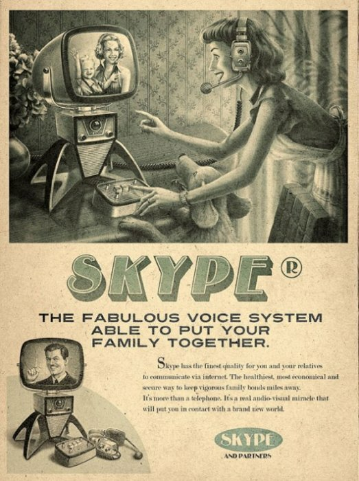 Skype в винтажном стиле