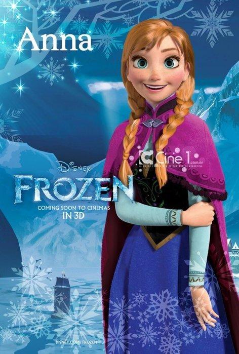 Снежная Королева характер-постер