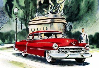 винтажные постеры с ретро автомобилями