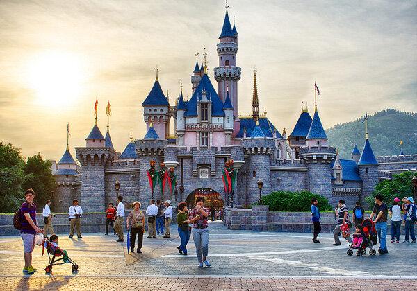 Замок Спящей Красавицы. Диснейленд в Гонконге