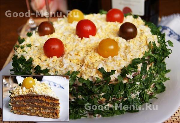 Как приготовить празднечный торт с фотографиями