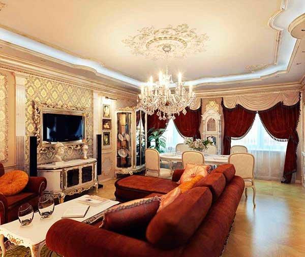 Как правильно оформить комнаты в стиле барокко своими силами.