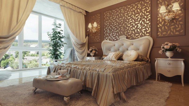 шикарные интерьеры спальни