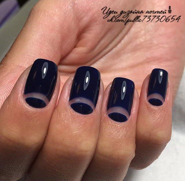 Дизайн ногтей темный