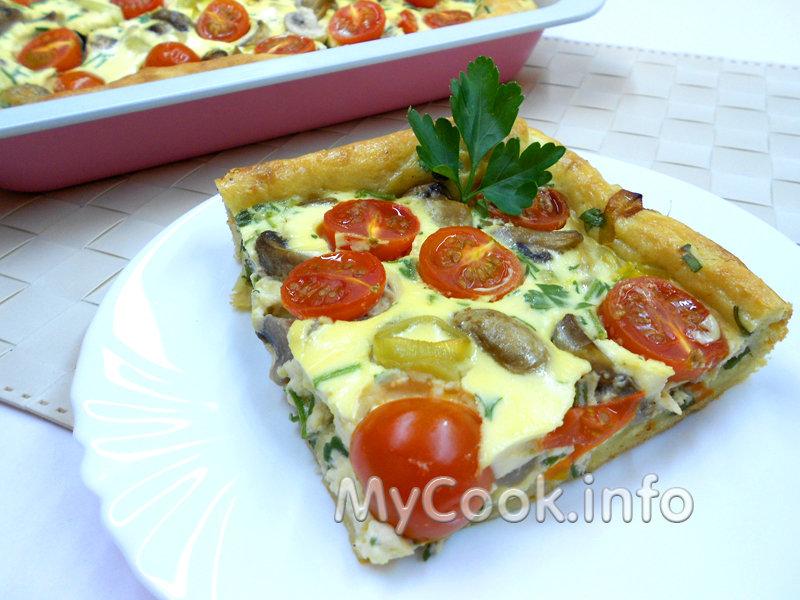 Киш овощной рецепт с фото