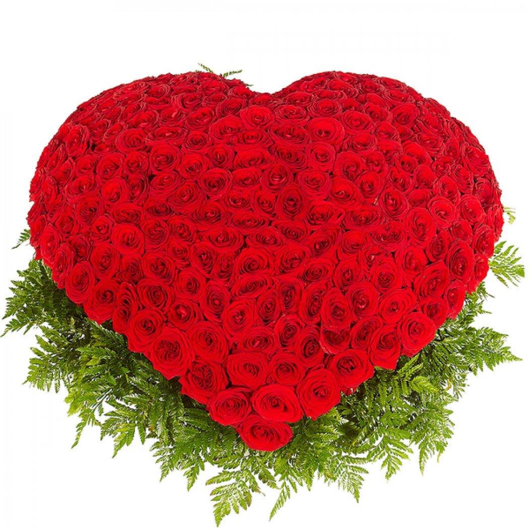 Цветы, букет цветов форме сердца