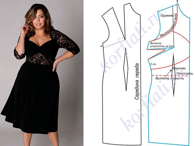 Сшить платье модели для полных фото