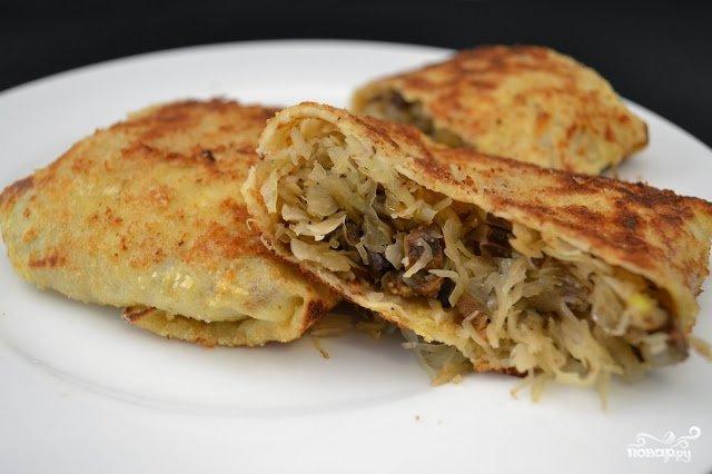 Блинчики с капустой рецепт с фото пошагово