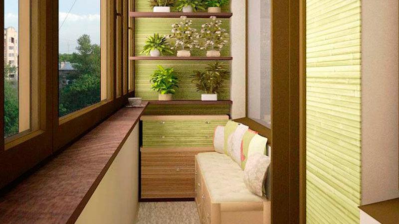 """Декор балкона в зеленых тонах"""" - карточка пользователя venoo."""