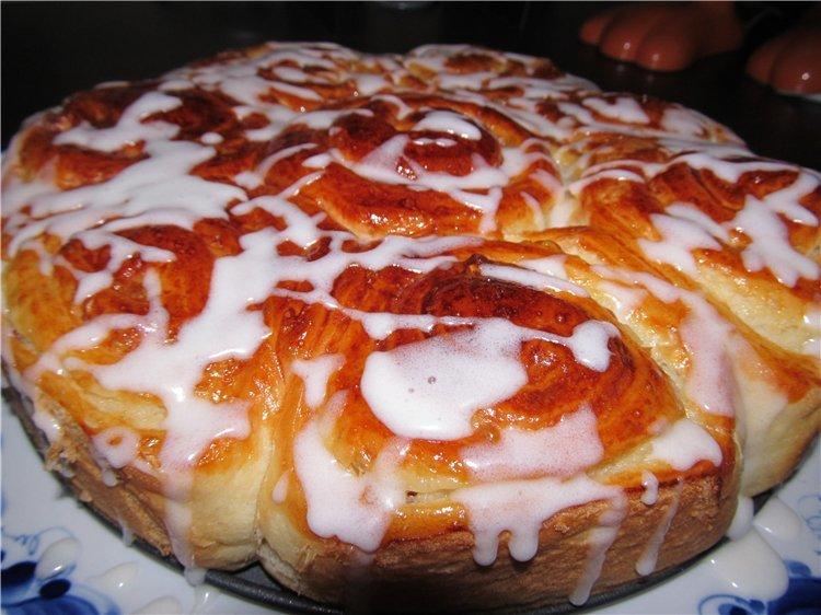 Булочки-бриоши с кремом патисьер+яблочный пирог