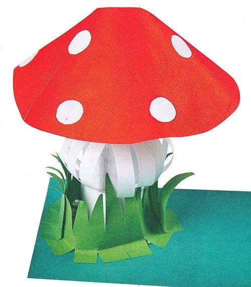 Открытка гриб своими руками