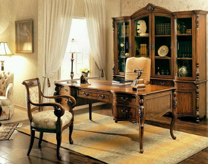Рабочий кабинет стал обязательным атрибутом большинства домов. Оформляем его в классическом французском стиле.