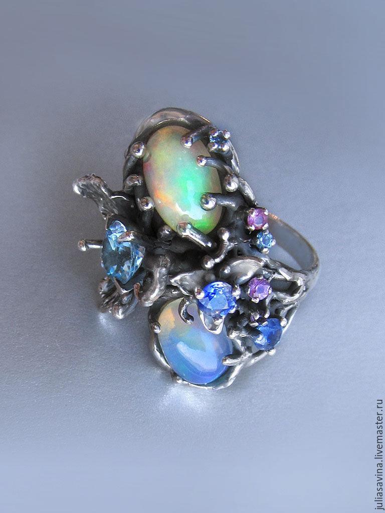 Кольцо Голубая орхидея