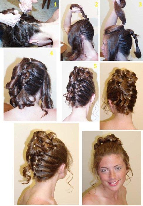 10 вечерних причесок для длинных волос. Обсуждение на LiveInternet - Российский Сервис Онлайн-Дневников