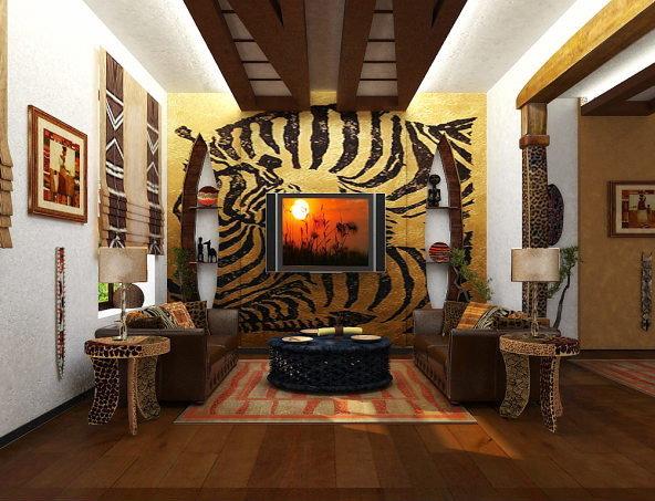 Африканский стиль в интерьере: мебель, отделка и декор своими руками (30 фото) | Стиль интерьера | DecorWind.ru