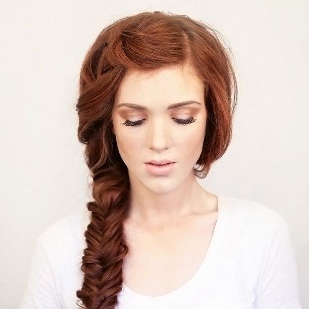 Боковая коса: плетение объемной косы самой себе (фото-урок)