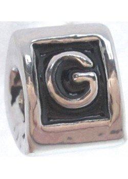 буква G -шарм для браслета пандора