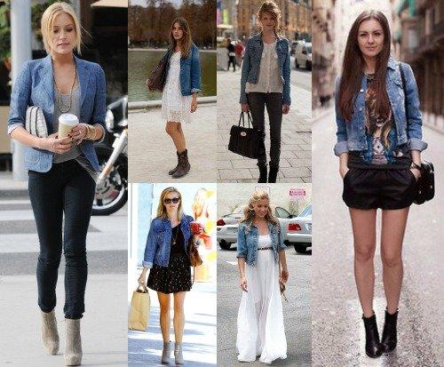Что надеть с джинсовой курткой?