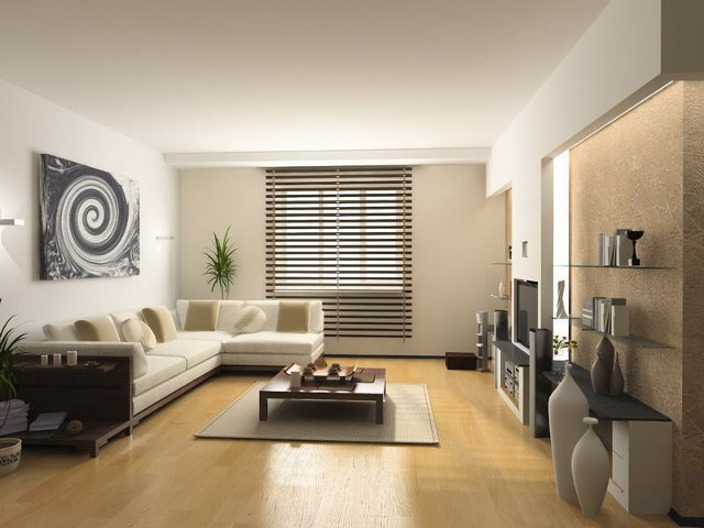 Дизайн светлой гостиной в стиле модерн