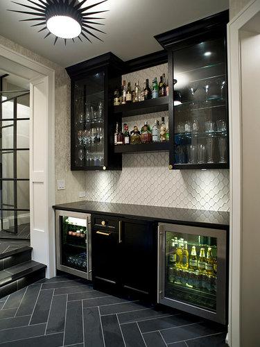 встроенный мини бар для кухни