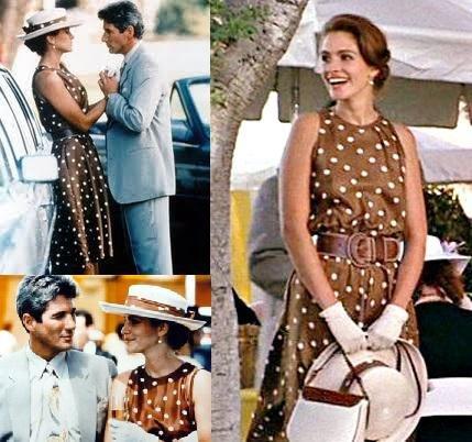 Робертс красотка платье в горошек