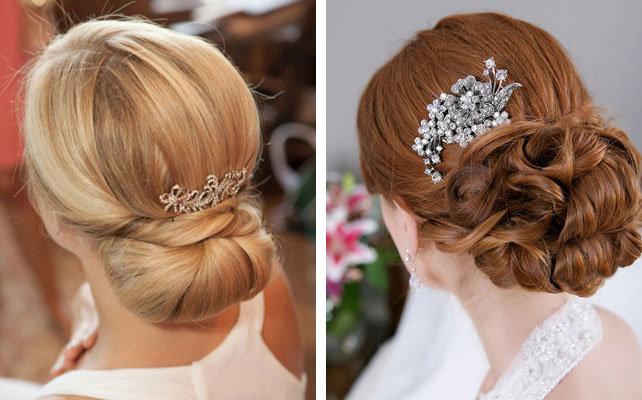 элегантная классическая свадебная причёска