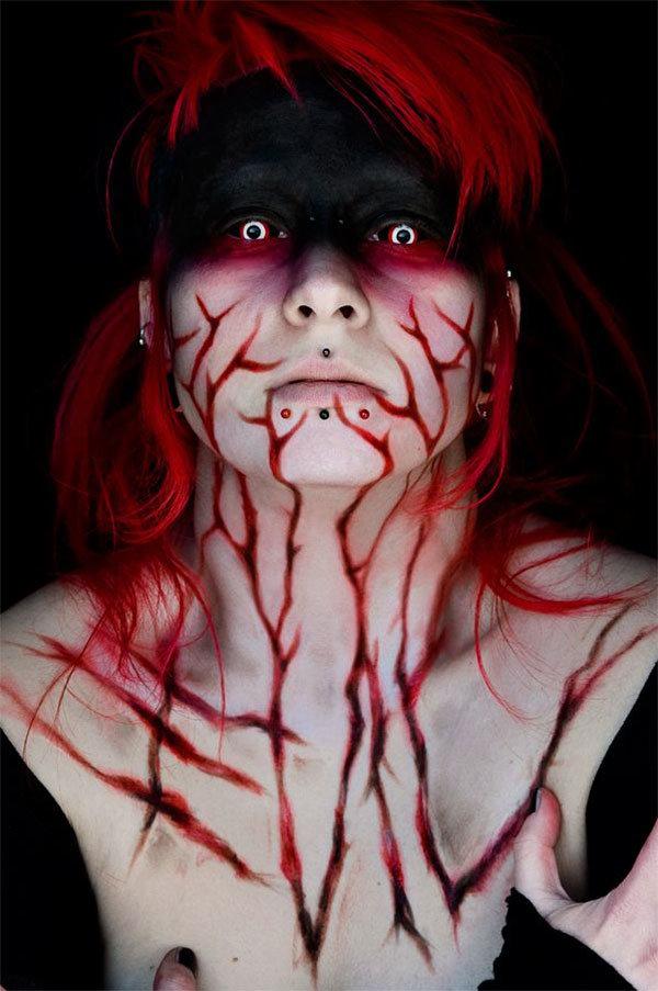 — Идеи пугающего макияжа на Хэллоуин, 19 фото