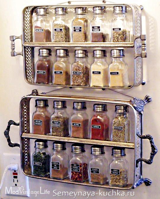 идея для хранения на кухне