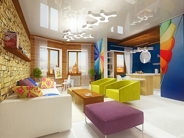 Интерьер двухкомнатной квартиры в стиле поп-арта