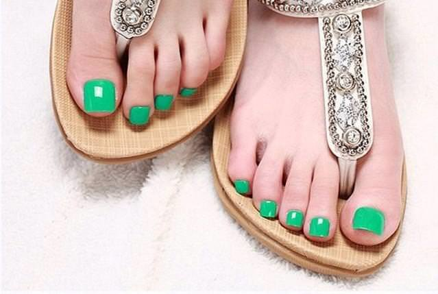Itemship-9-color-Hot-New-Nail-patch-candy-colored-solid-font-b-toenails-b-font-bright