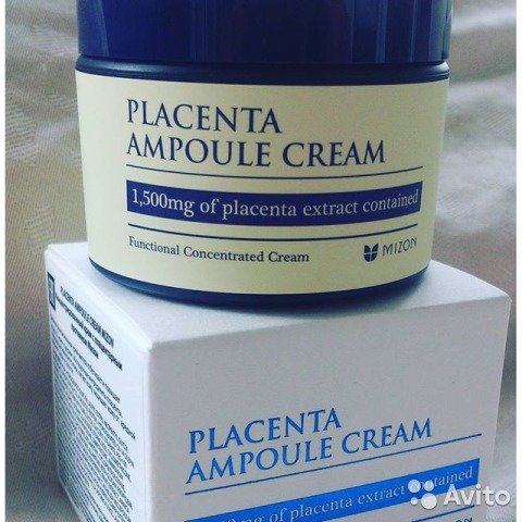 Корейский крем Mizon Placents Ampoule Cream