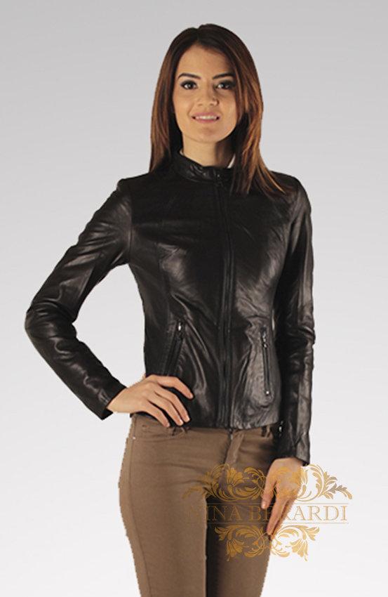 Кожаная куртка косуха Вилена