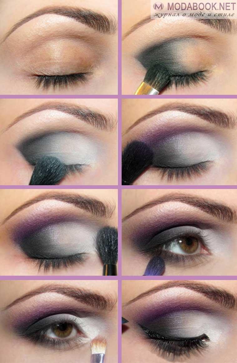 Красивый пошаговый макияж для карих глаз: подробные фото и видео