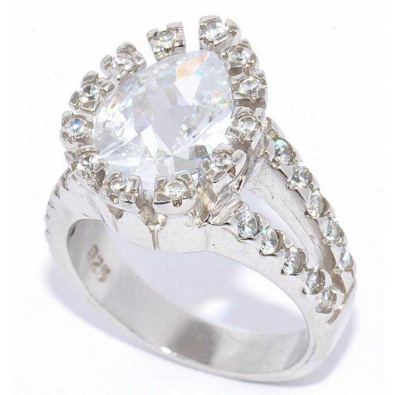 Купить кольцо из серебра с фианитом. Серебряные Крылья Артикул: 202576  - GloriaGold.ru