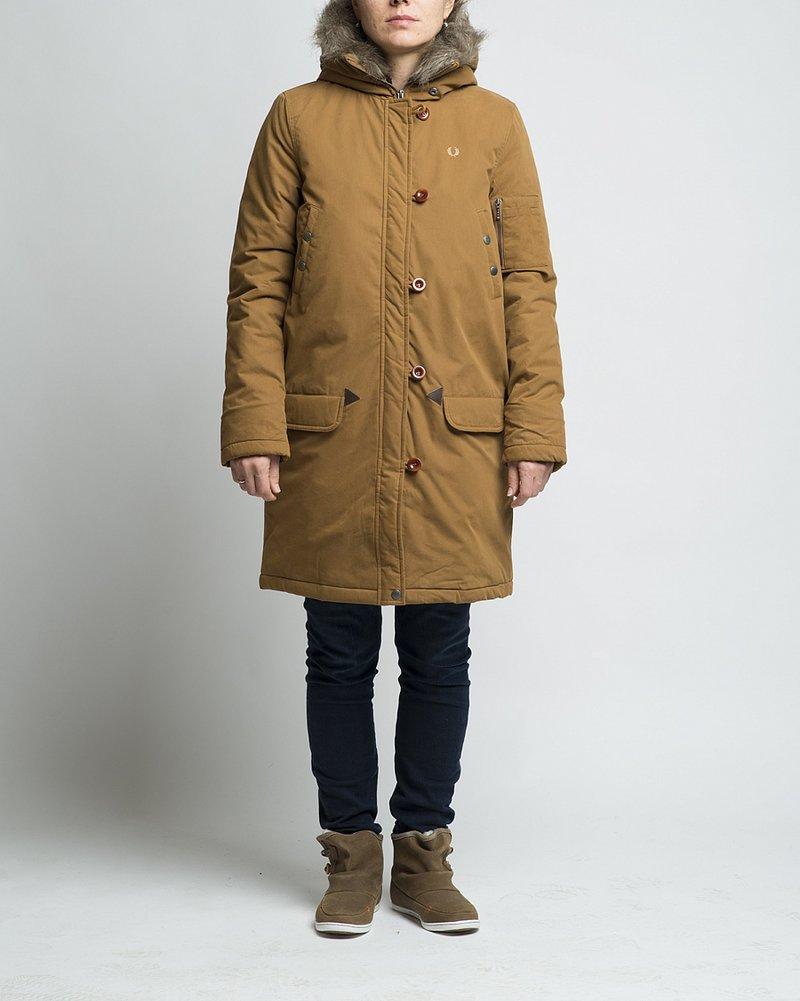 купить Куртка-парка утепленная женская Fred Perry Snorkel Parka Rubber в Москве