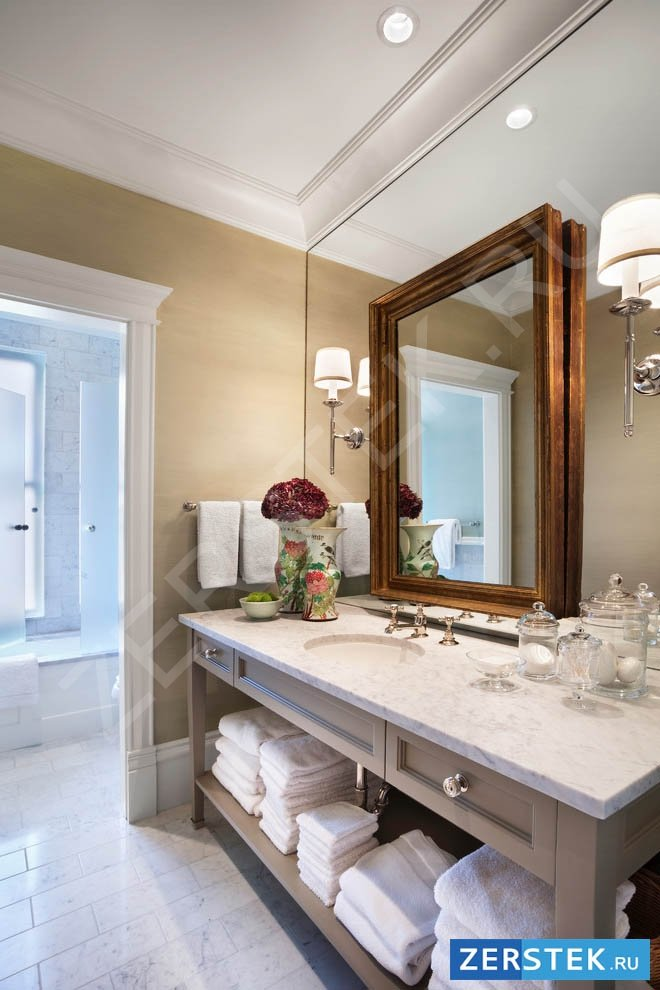 Купите зеркало для ванной комнаты с подсветкой, фото работ