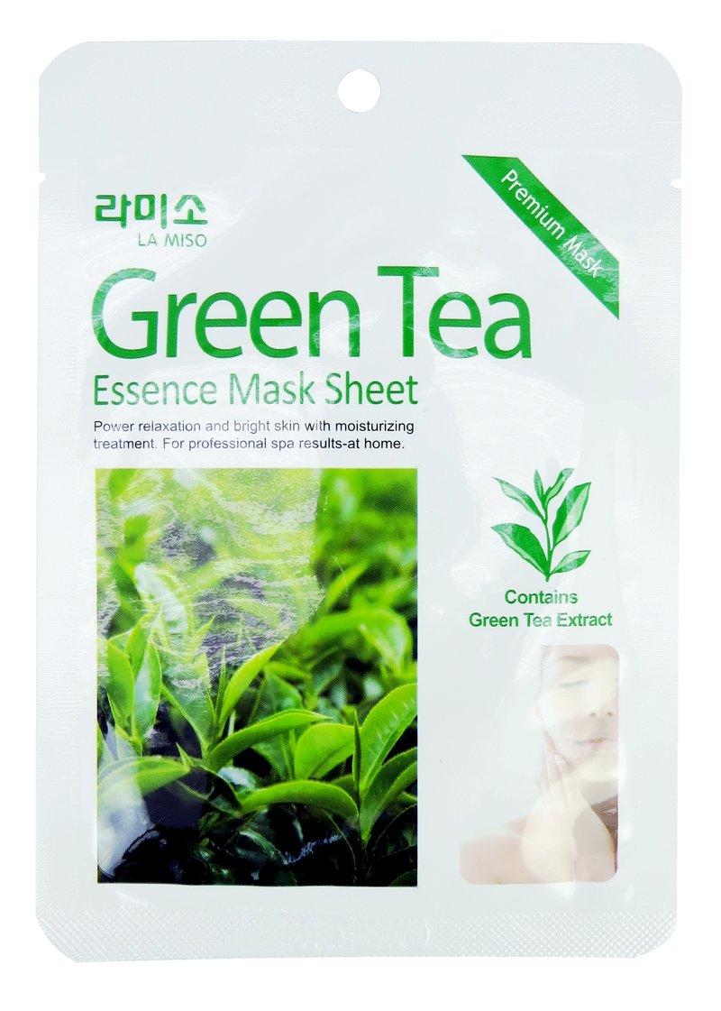 Маска-салфетка с экстрактом зеленого чая (Green Tea Essence Mask) от La Miso, купить с доставкой по Москве и России