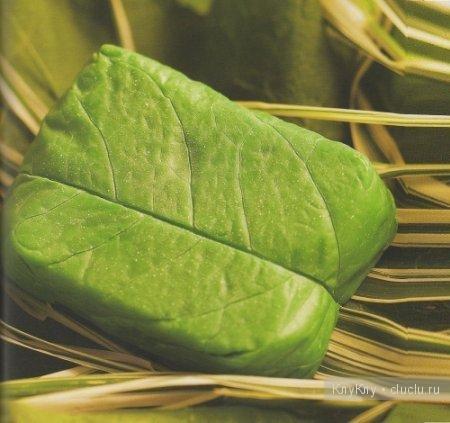 Мыло в форме капустного листа - идея для мыловарения, мастеркласс
