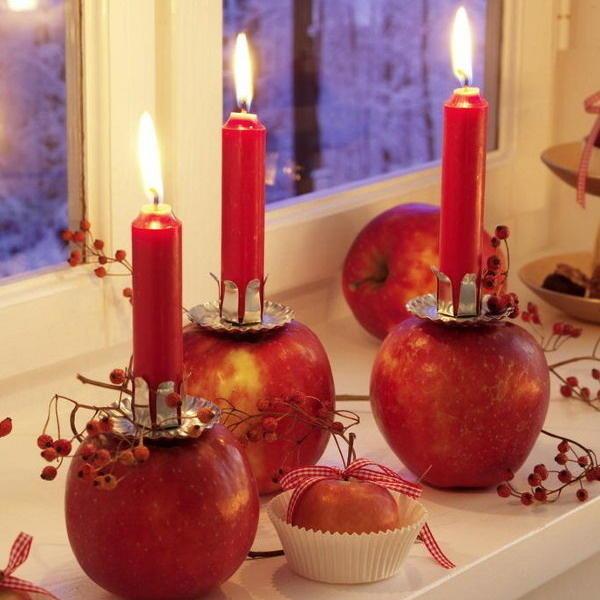 Новогодние свечи: новые идеи декора нового года 2013 (много фото)