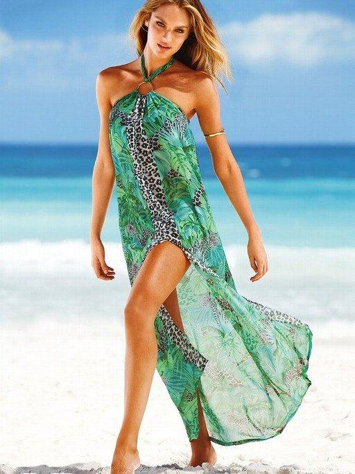 полупрозрачное платье для пляжа